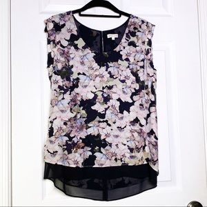 Rebecca Taylor Silk Floral Blouse